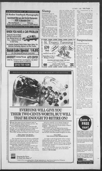 Daily Trojan, Vol. 129, No. 23, October 01, 1996