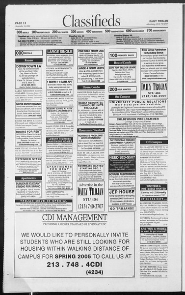Daily Trojan, Vol. 153, No. 59, November 16, 2004