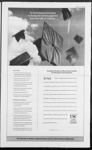 Daily Trojan, Vol. 153, No. 56, November 11, 2004