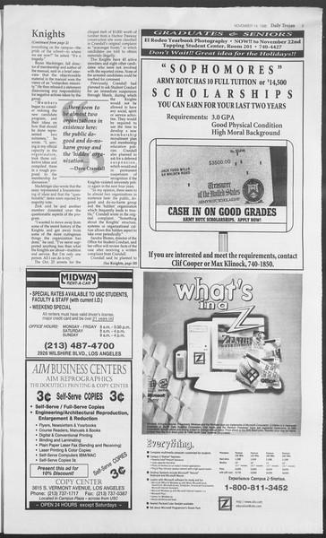Daily Trojan, Vol. 129, No. 54, November 14, 1996