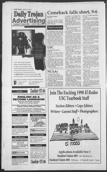 Daily Trojan, Vol. 130, No. 41, March 21, 1997