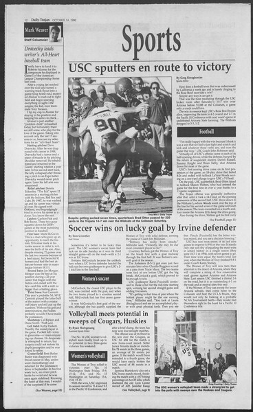 Daily Trojan, Vol. 129, No. 32, October 14, 1996