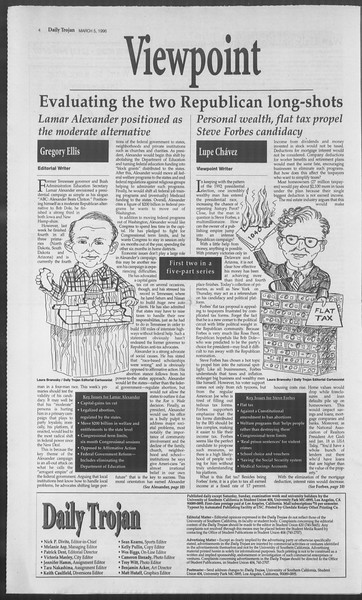 Daily Trojan, Vol. 127, No. 35, March 05, 1996