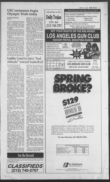 Daily Trojan, Vol. 127, No. 36, March 06, 1996