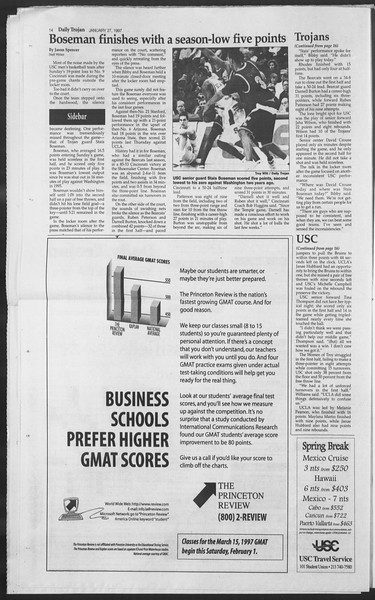 Daily Trojan, Vol. 130, No. 11, January 27, 1997