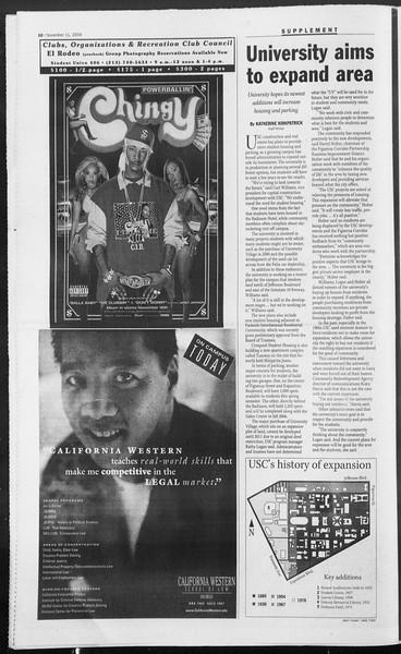 Daily Trojan, Vol. 153, No. 56, November 11, 2004