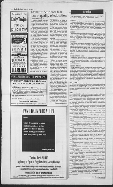 Daily Trojan, Vol. 130, No. 39, March 19, 1997