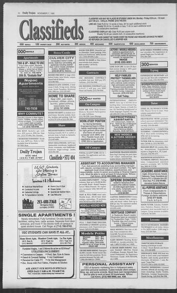 Daily Trojan, Vol. 126, No. 47, November 07, 1995