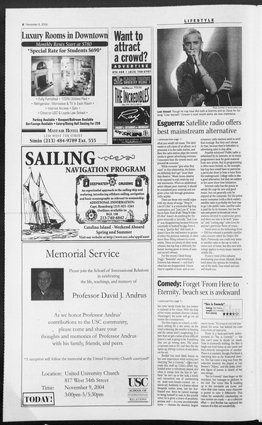 Daily Trojan, Vol. 153, No. 54, November 09, 2004