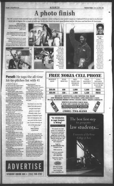 Daily Trojan, Vol. 143, No. 4, June 13, 2001