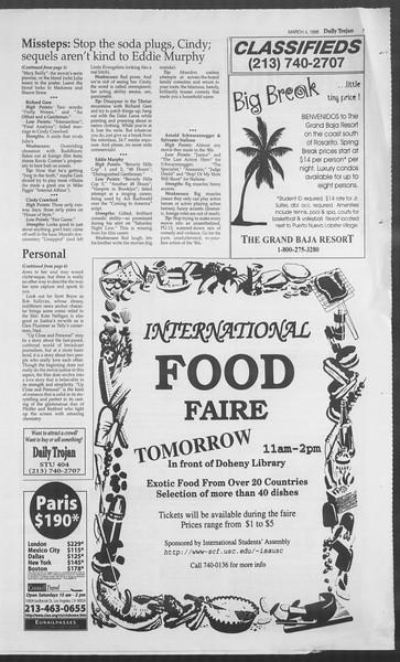 Daily Trojan, Vol. 127, No. 34, March 04, 1996