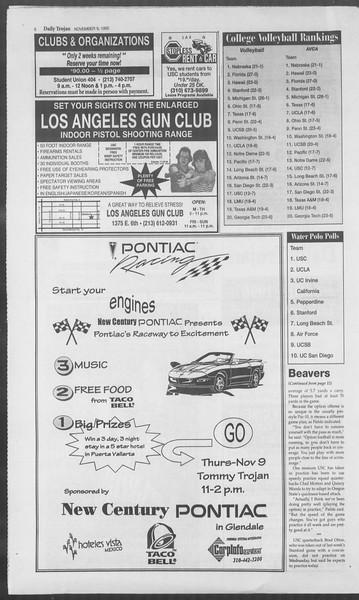 Daily Trojan, Vol. 126, No. 49, November 09, 1995