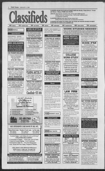 Daily Trojan, Vol. 127, No. 15, February 02, 1996
