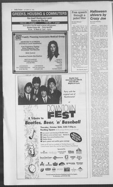 Daily Trojan, Vol. 126, No. 38, October 25, 1995