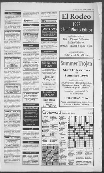 Daily Trojan, Vol. 127, No. 44, March 26, 1996