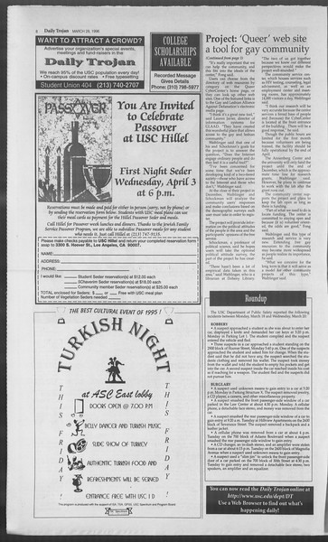 Daily Trojan, Vol. 127, No. 46, March 28, 1996