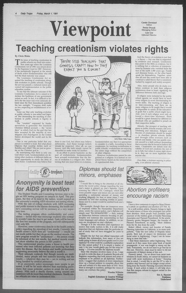 Daily Trojan, Vol. 114, No. 34, March 01, 1991