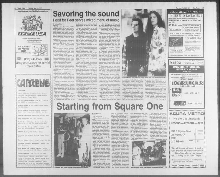 Daily Trojan, Vol. 114, No. 67, April 25, 1991