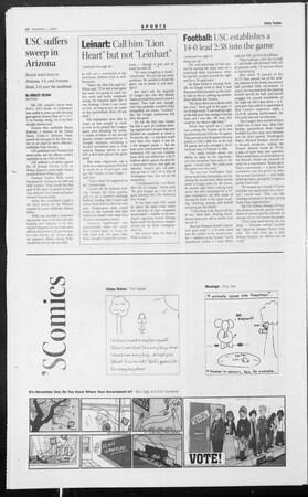 Daily Trojan, Vol. 153, No. 48, November 01, 2004