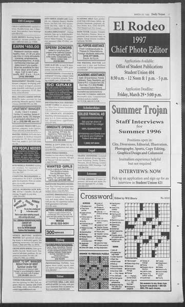 Daily Trojan, Vol. 127, No. 46, March 28, 1996