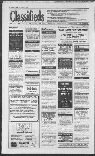 Daily Trojan, Vol. 126, No. 40, October 27, 1995