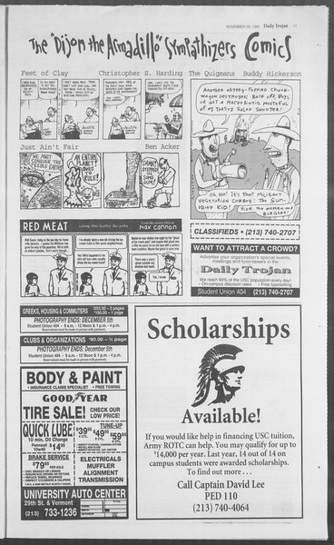 Daily Trojan, Vol. 126, No. 59, November 29, 1995