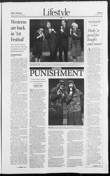 Daily Trojan, Vol. 153, No. 27, October 01, 2004