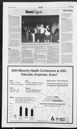 Daily Trojan, Vol. 153, No. 18, September 17, 2004