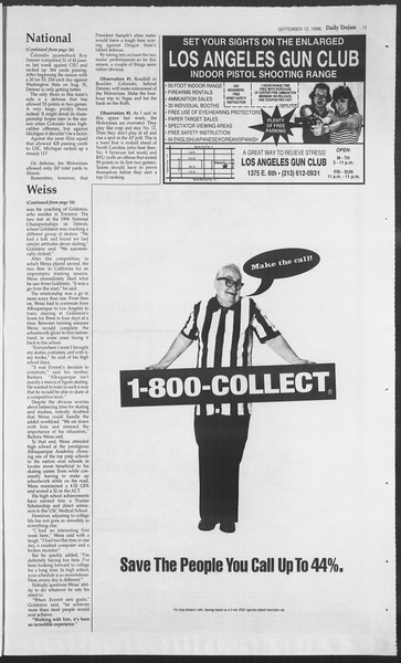 Daily Trojan, Vol. 129, No. 10, September 12, 1996