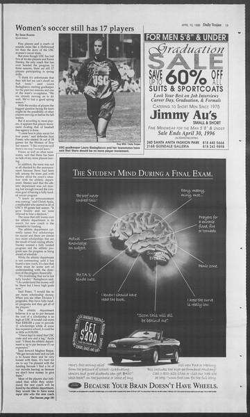 Daily Trojan, Vol. 127, No. 55, April 10, 1996