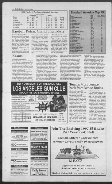 Daily Trojan, Vol. 127, No. 59, April 16, 1996