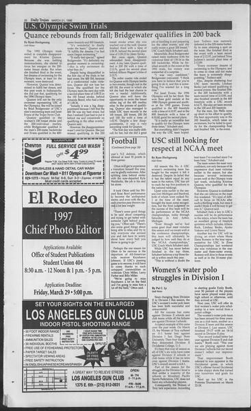 Daily Trojan, Vol. 127, No. 41, March 21, 1996