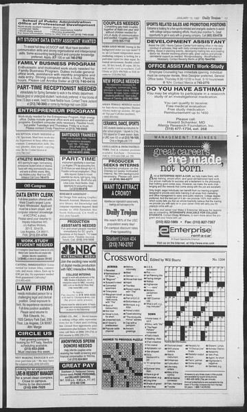 Daily Trojan, Vol. 130, No. 5, January 15, 1997