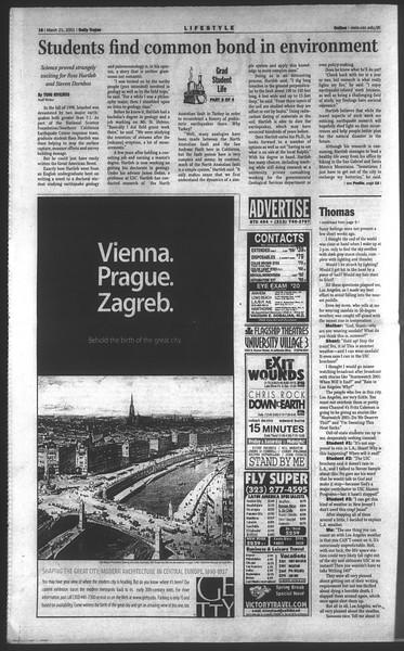 Daily Trojan, Vol. 142, No. 41, March 21, 2001