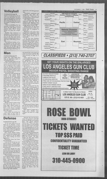 Daily Trojan, Vol. 126, No. 65, December 07, 1995