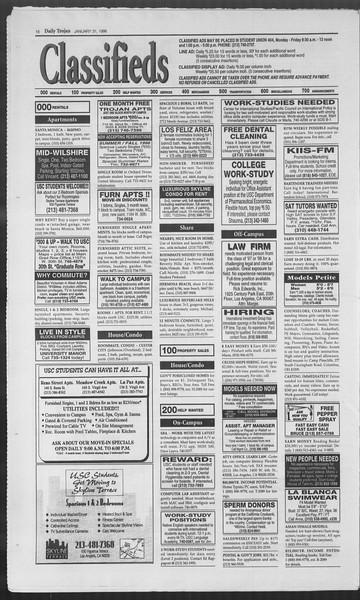 Daily Trojan, Vol. 127, No. 13, January 31, 1996