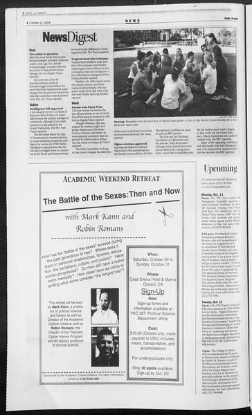 Daily Trojan, Vol. 153, No. 33, October 11, 2004