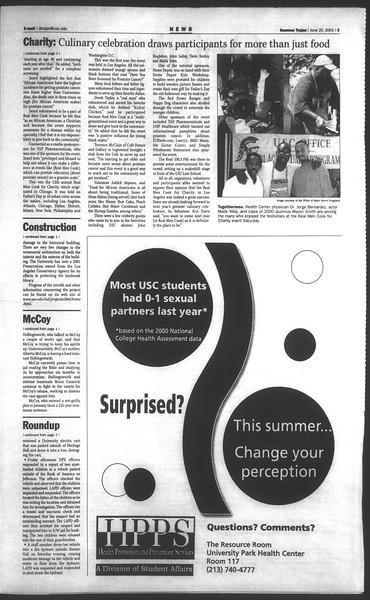 Daily Trojan, Vol. 143, No. 5, June 20, 2001