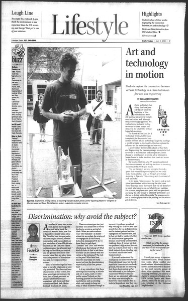 Daily Trojan, Vol. 142, No. 50, April 03, 2001