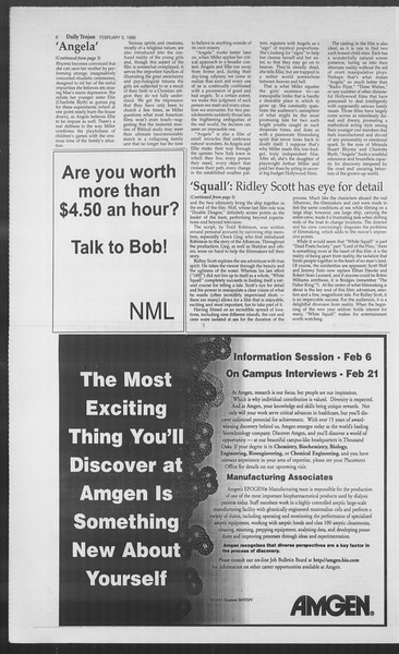 Daily Trojan, Vol. 127, No. 16, February 05, 1996