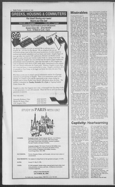 Daily Trojan, Vol. 126, No. 38, October 25, 1995