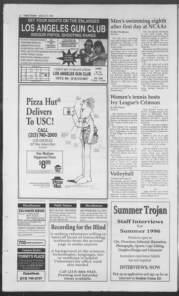 Daily Trojan, Vol. 127, No. 47, March 29, 1996