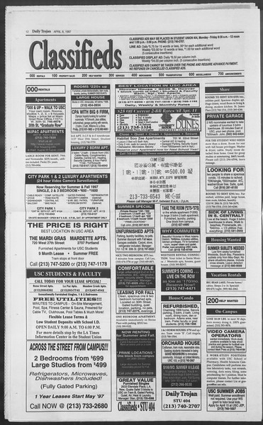Daily Trojan, Vol. 130, No. 53, April 08, 1997