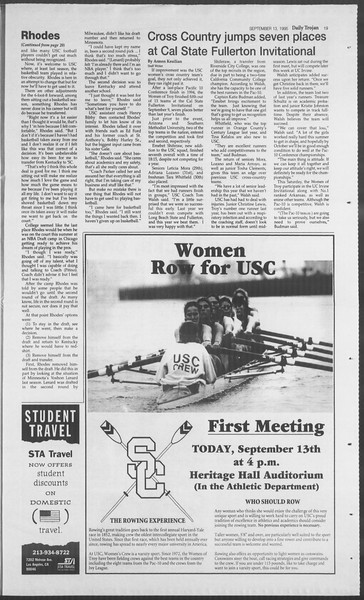 Daily Trojan, Vol. 126, No. 9, September 13, 1995