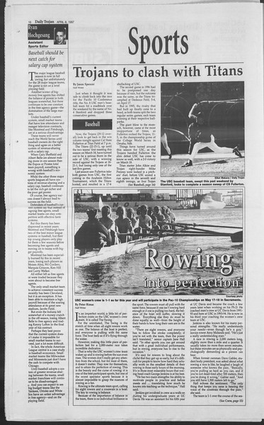 Daily Trojan, Vol. 130, No. 53, April 08, 1997