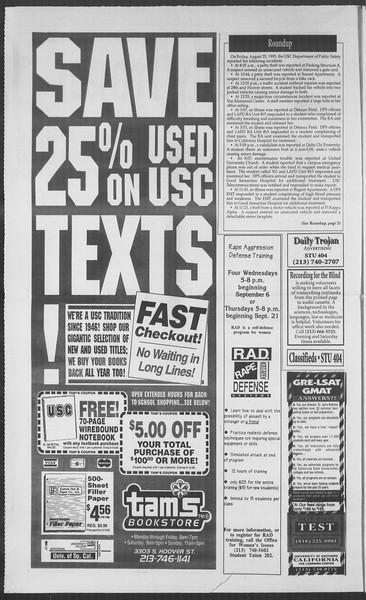 Daily Trojan, Vol. 126, No. 3, September 01, 1995