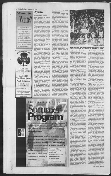 Daily Trojan, Vol. 130, No. 13, January 29, 1997
