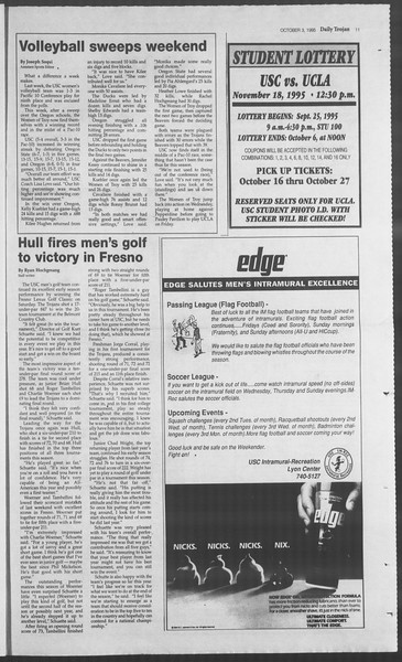 Daily Trojan, Vol. 126, No. 23, October 03, 1995
