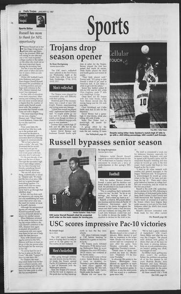 Daily Trojan, Vol. 130, No. 1, January 09, 1997