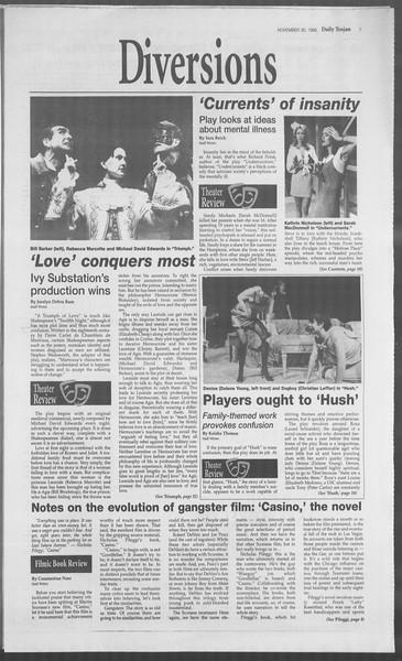 Daily Trojan, Vol. 126, No. 60, November 30, 1995